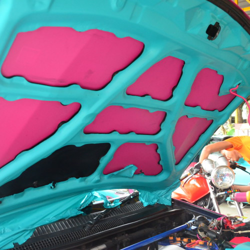 Engine bay colorful too